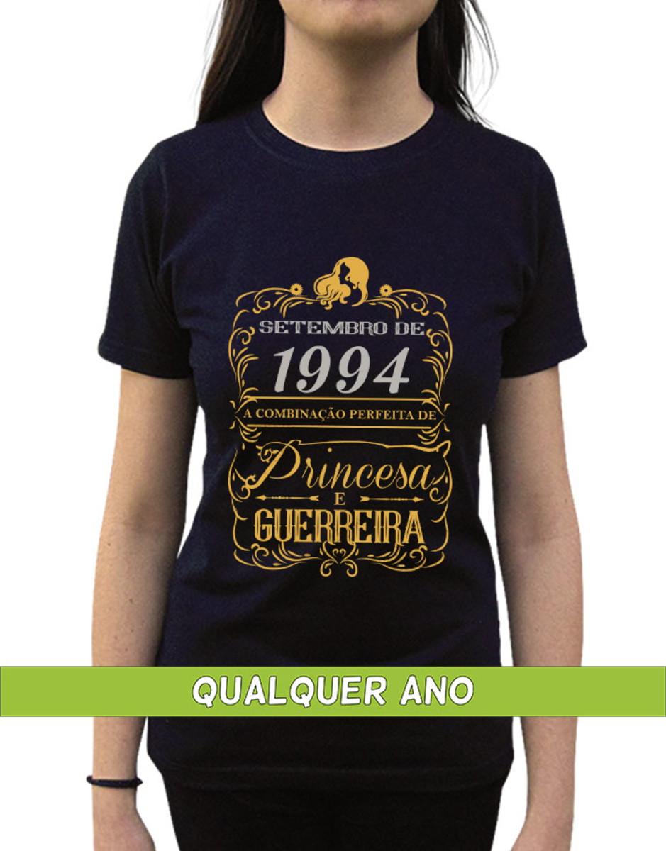 eb8d046e07 Camiseta Princesa Guerreira Setembro Personalizada com Ano no Elo7 ...