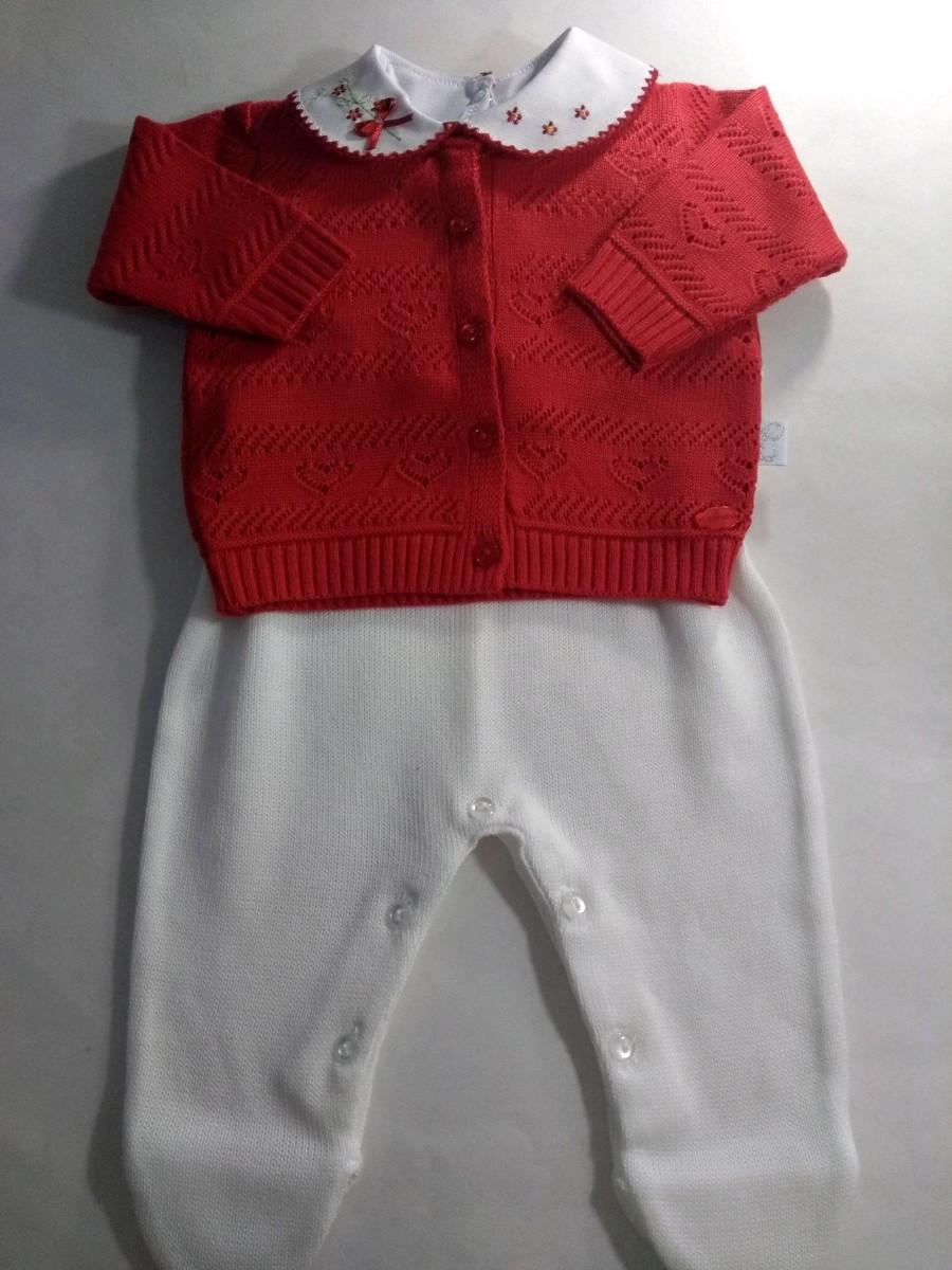 035ed67e9b Kit macacão cavado + casaquinho + Body vermelho no Elo7