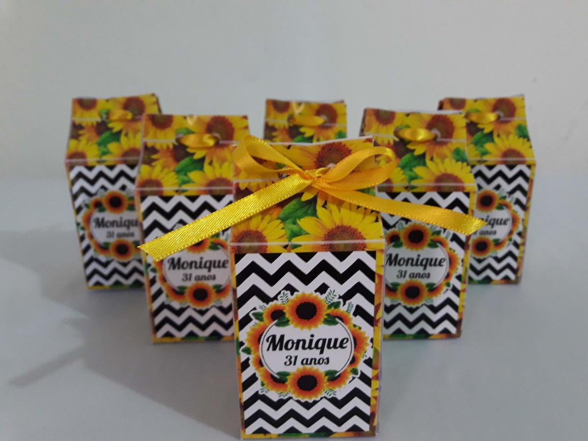 Caixa Milk Girassol no Elo7 Doce Festa DF (E15926) # Decoração De Girassol Para Aniversario