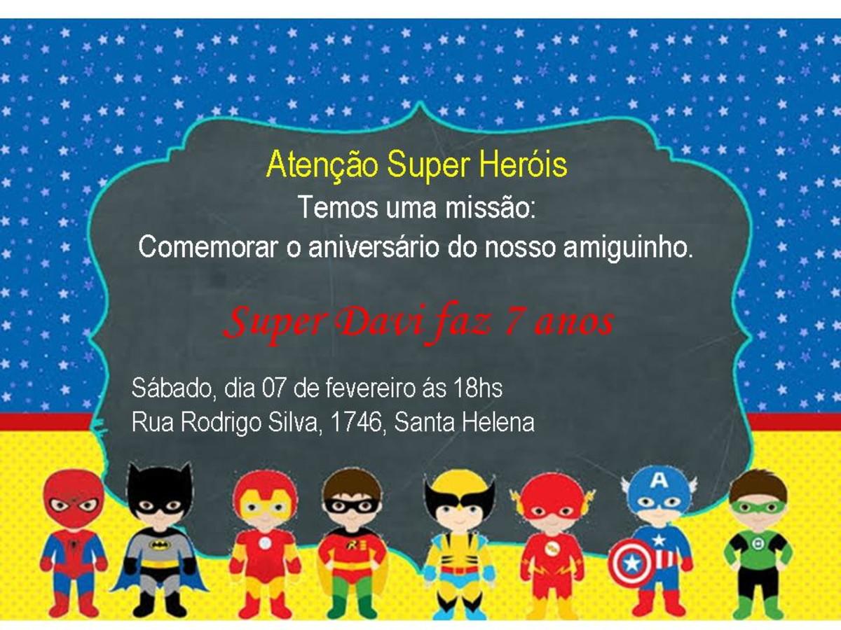 Convite Digital Super Heróis No Elo7 Mãos Arts E15c0b