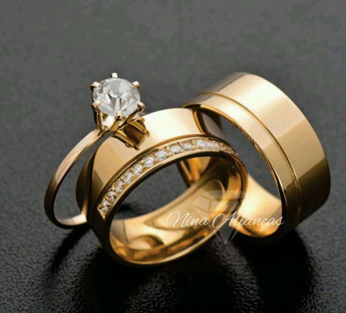 399e248116b6f Alianças para casamento ou noivado no Elo7   Pés de cinderela (E168AF)