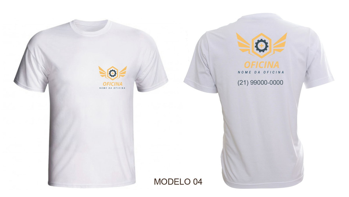 Camiseta Para Oficina Personalizada Uniforme Com Nome