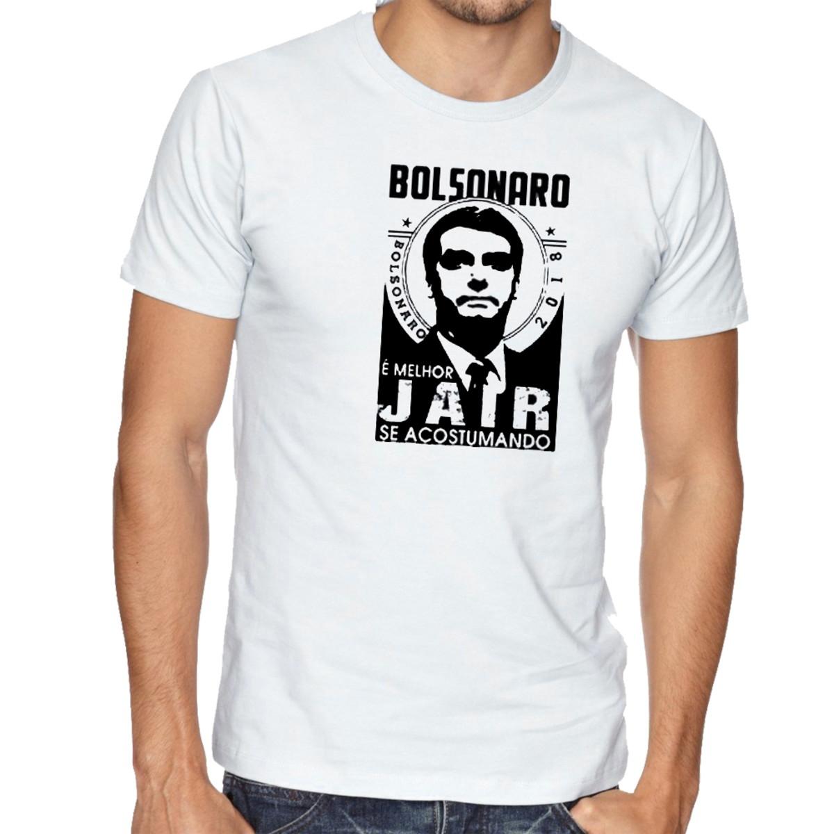 62ba8ed3d3 camiseta blusa Bolsonaro melhor Jair se acostumando no Elo7 ...