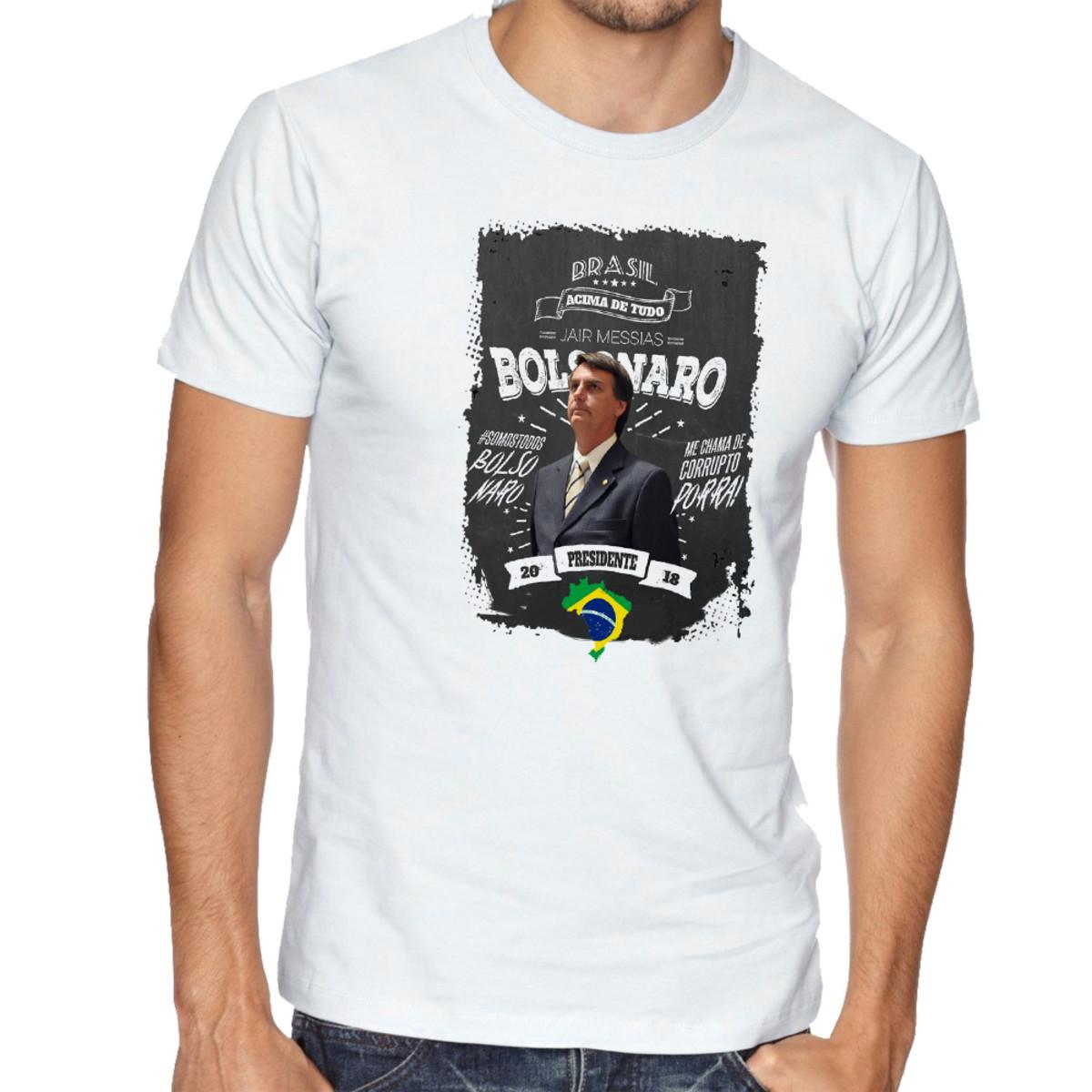 camiseta blusa Bolsonaro mito presidente DEUS acima todos no Elo7 ... e1df3389d0f83