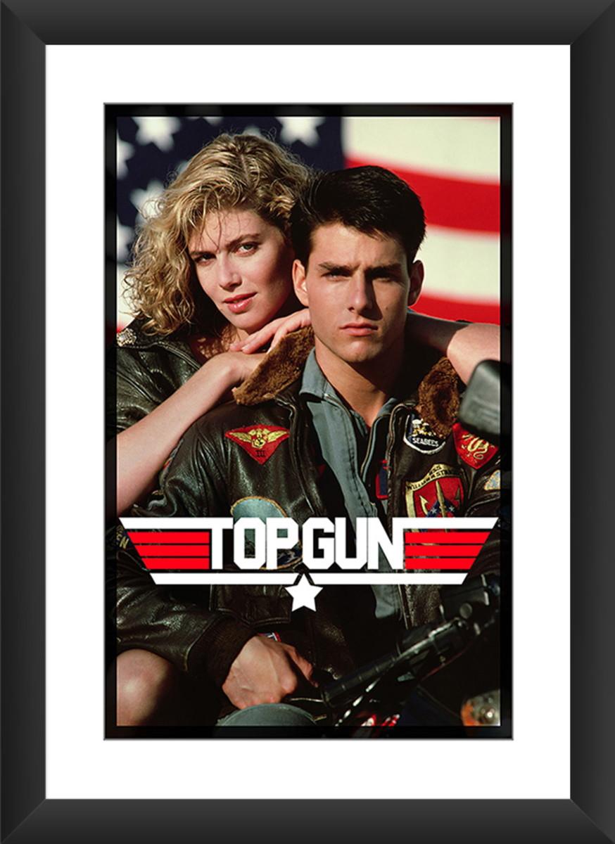 Quadro Filme Top Gun Ases Indomáveis Tom Cruis Retro Anos 80