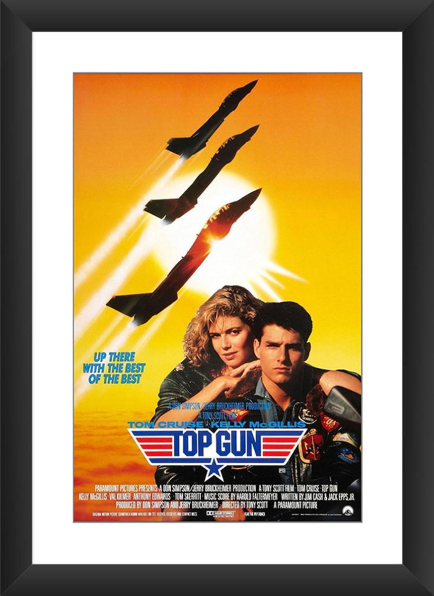 Quadro Top Gun Ases Indomáveis Filme Tom Cruis Retro Anos 80