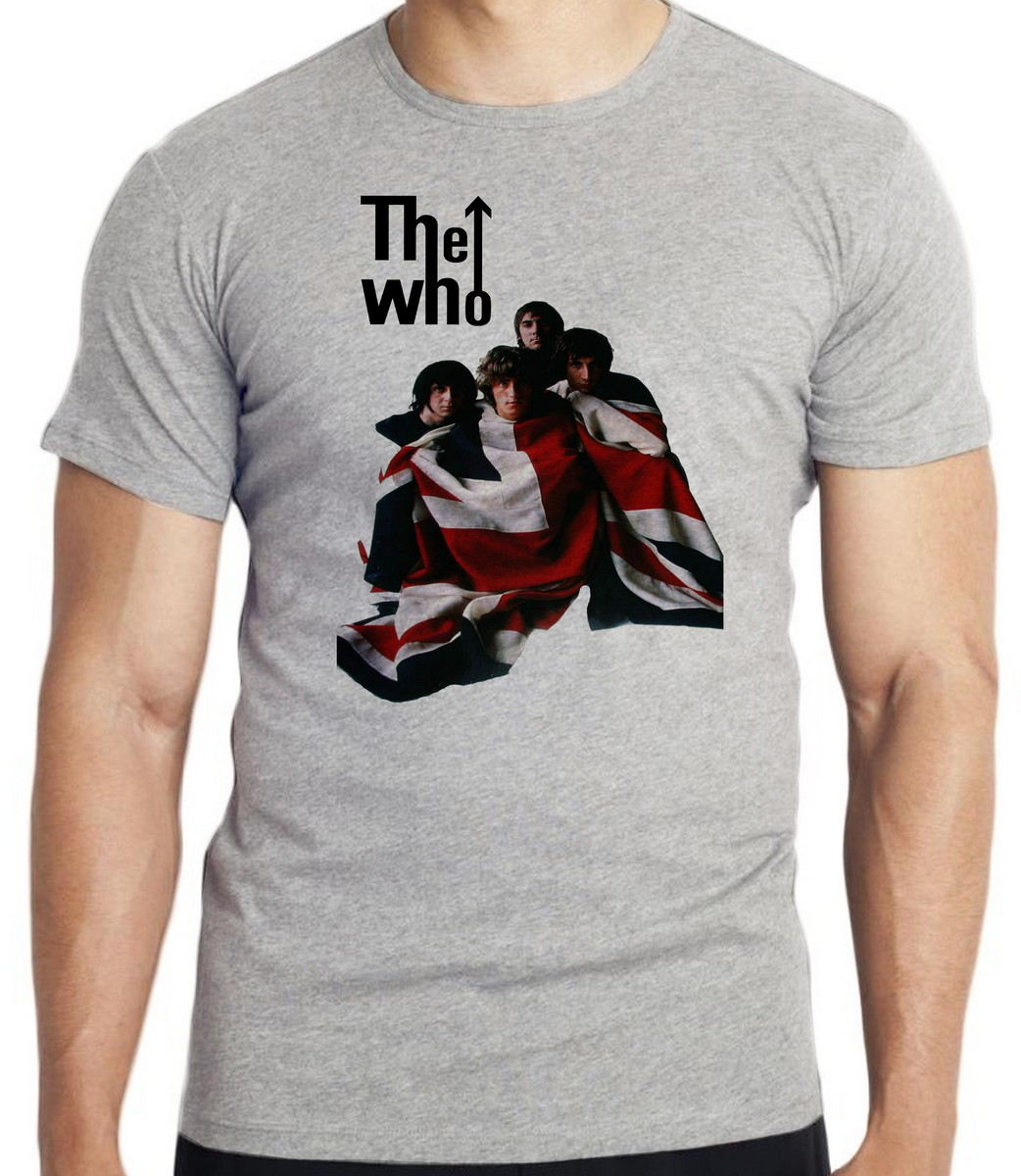 camiseta blusa the who banda rock inglaterra bandeira no Elo7 ... 04c11fc8df8d6