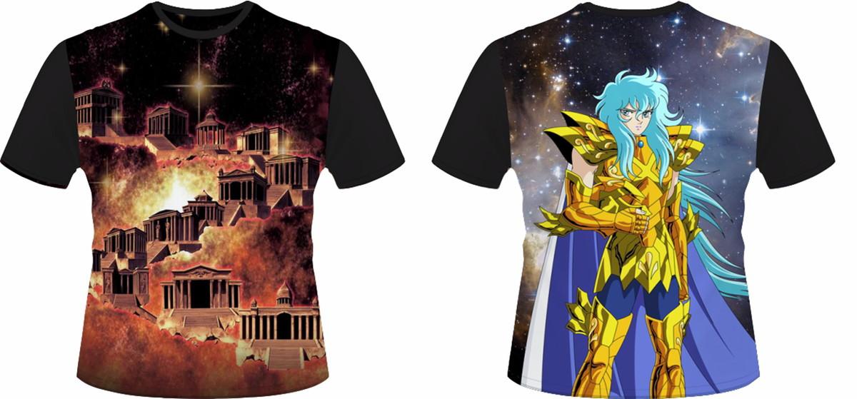 038fff245 Camiseta Cavaleiros do Zodíaco Peixes no Elo7