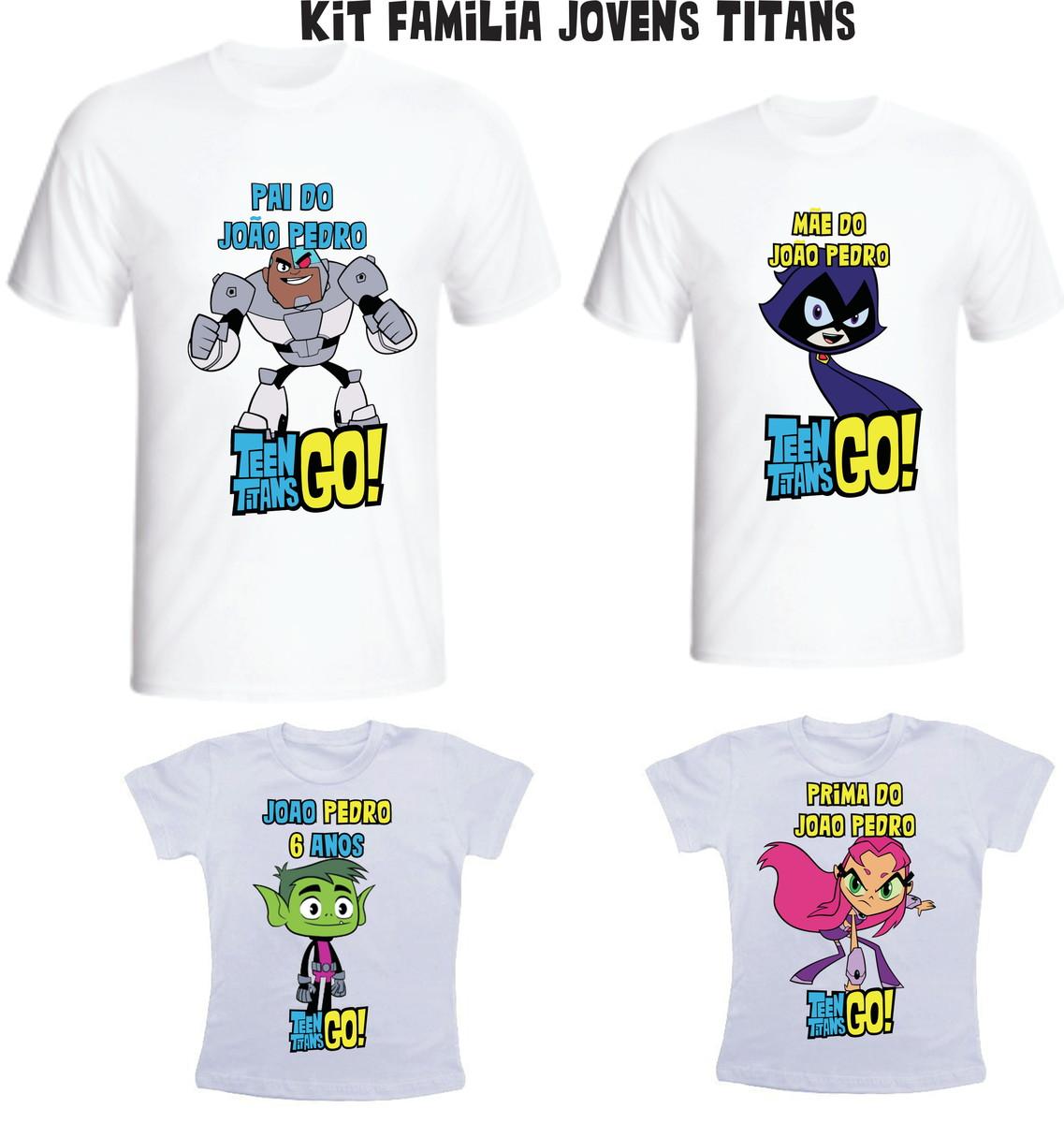 Camiseta Jovens Titãs Kit  04 - Personalizada no Elo7  a602178e497b3