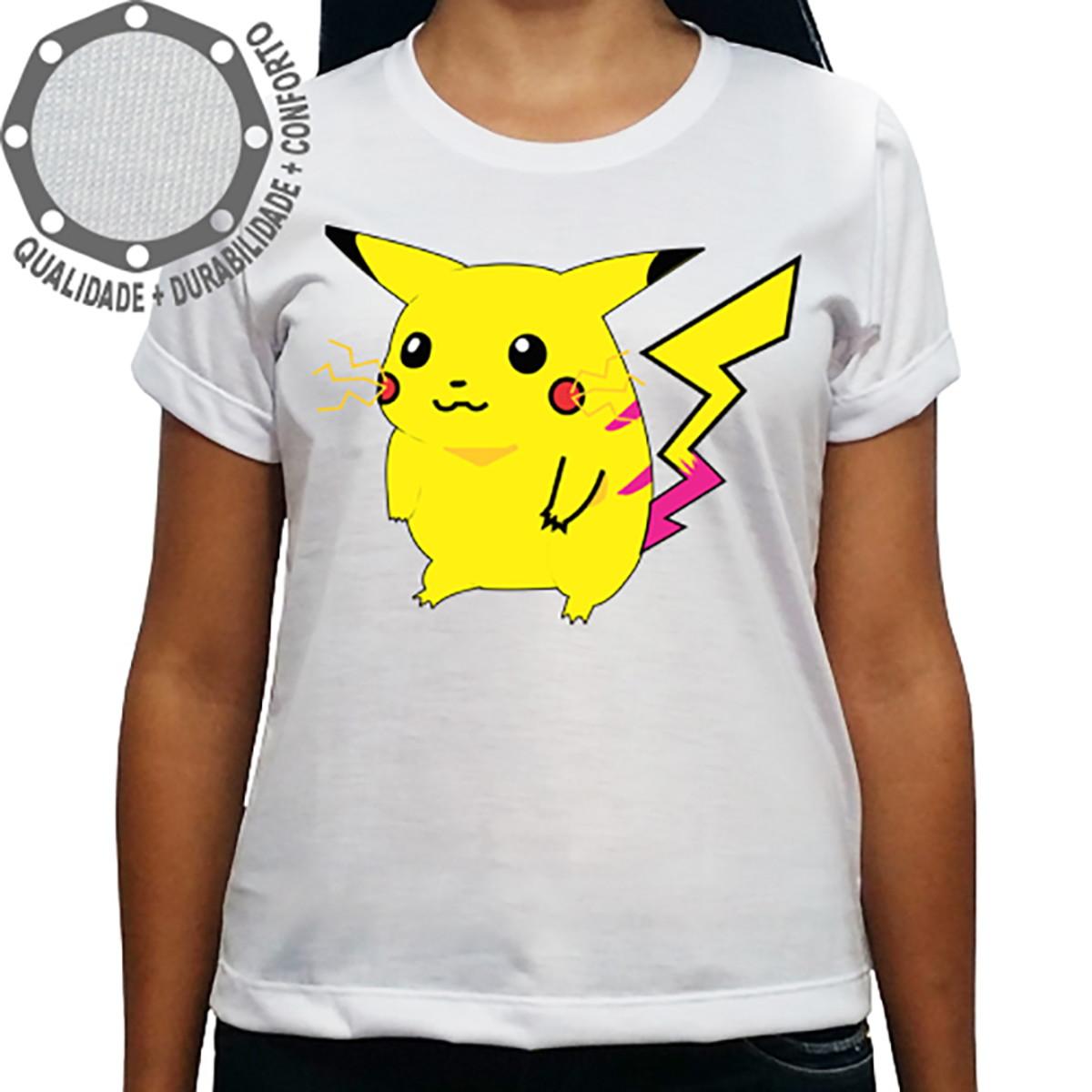 d31b67876e Camiseta Pokémon Pikachu Pose no Elo7