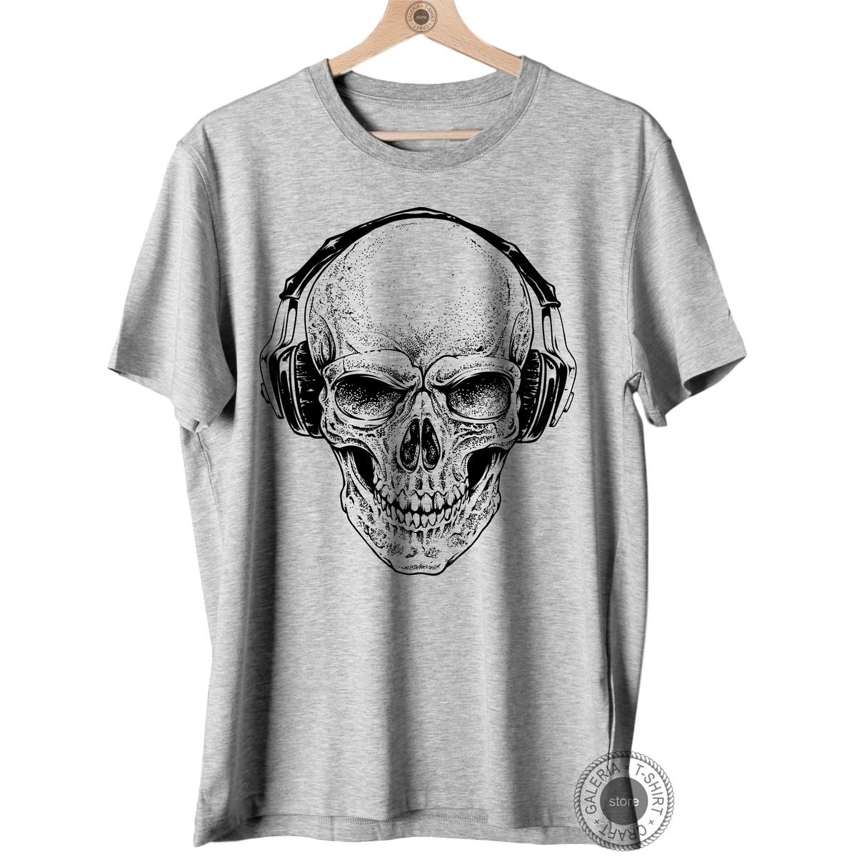 8b25aa7c32 Camisa Camiseta Masculina Caveira Skull Tattoo Fone no Elo7 ...