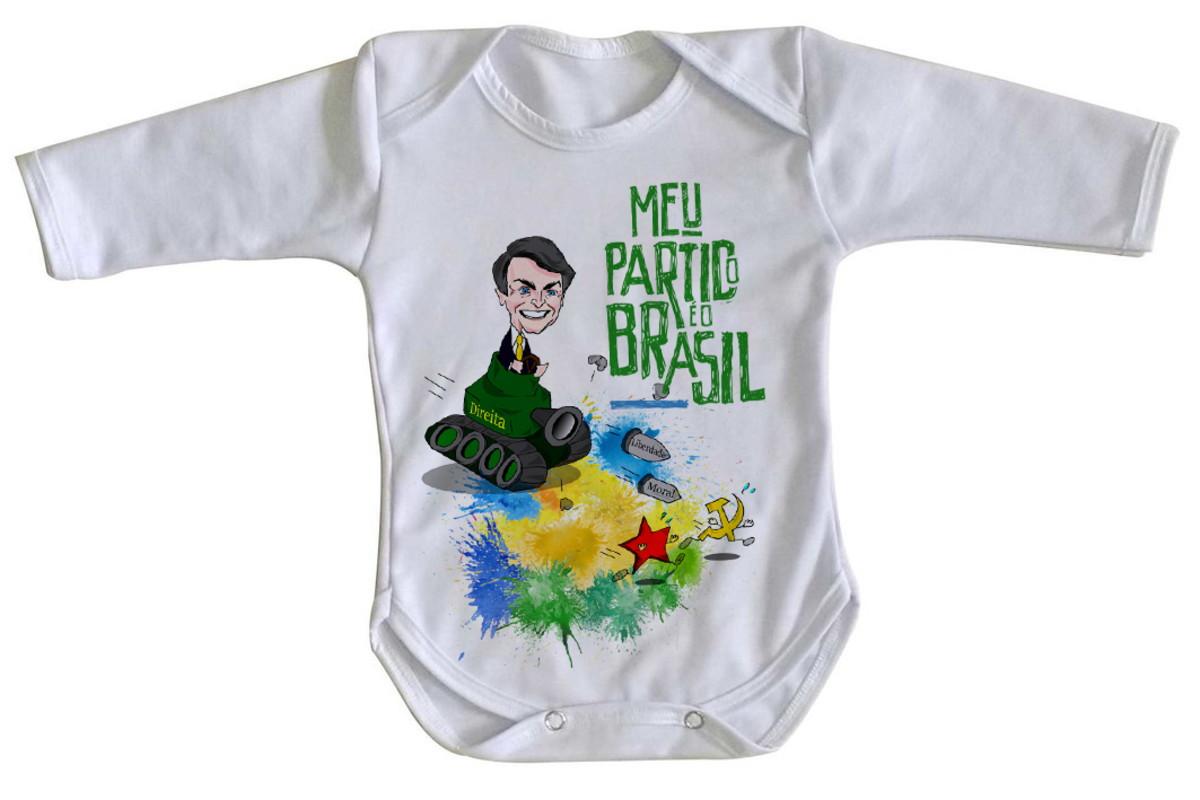 5364d06717071 Body bebê roupa nenê Bolsonaro tanque meu partido Brasil no Elo7 ...