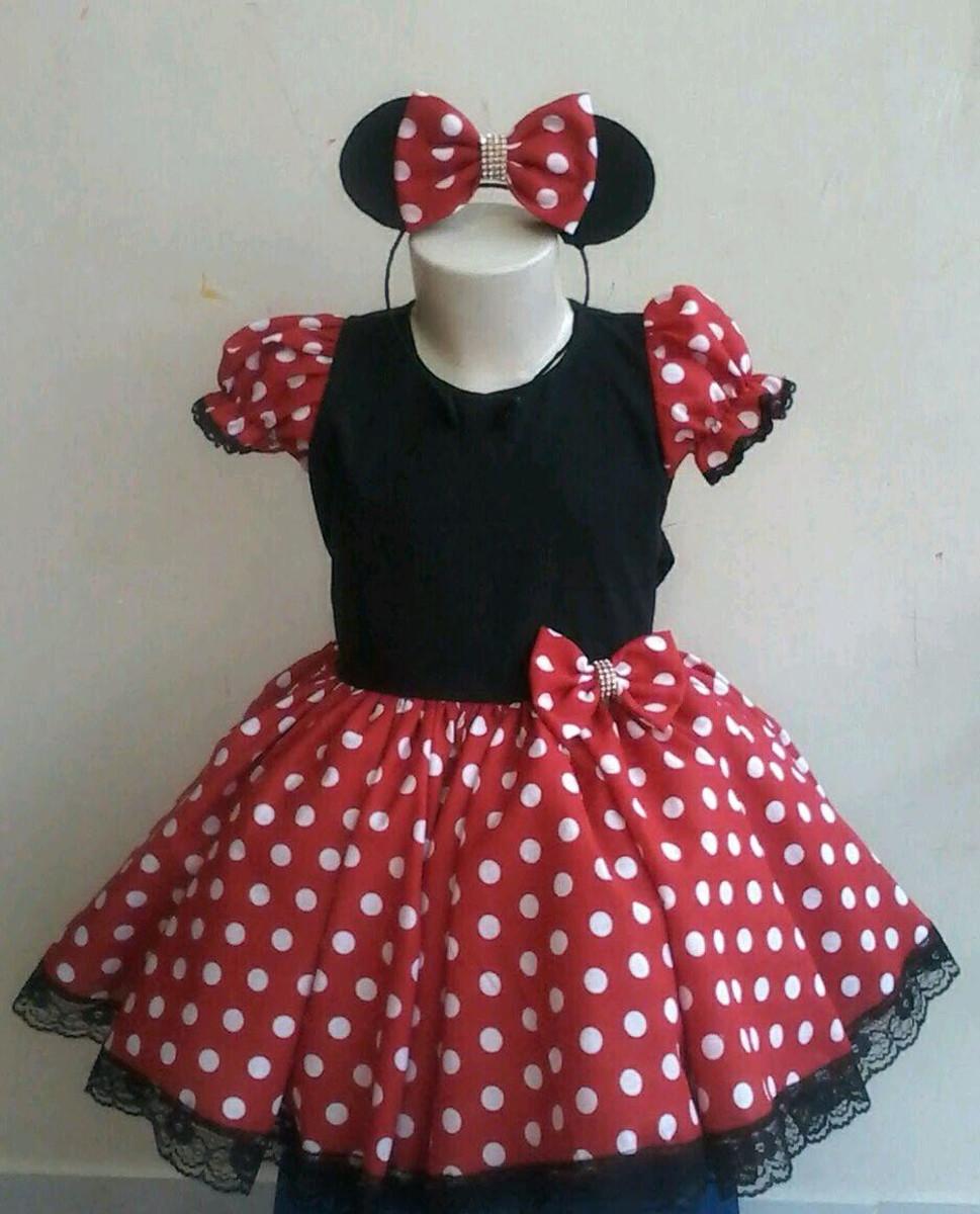 Fantasia Minnie Vermelha 1 2 Anos No Elo7 Belezinha Roupas E