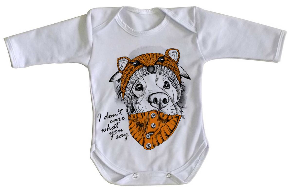 304fd1c09 Body bebê roupa nenê Cachorro I dont care what you say no Elo7 ...