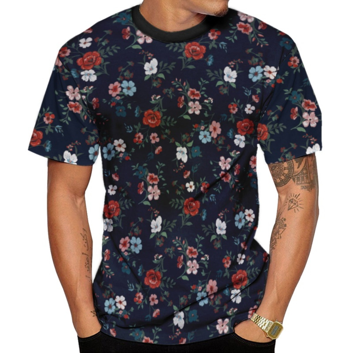ce0ca93a89 Camiseta Masculina Florida Floral Várias Cores no Elo7