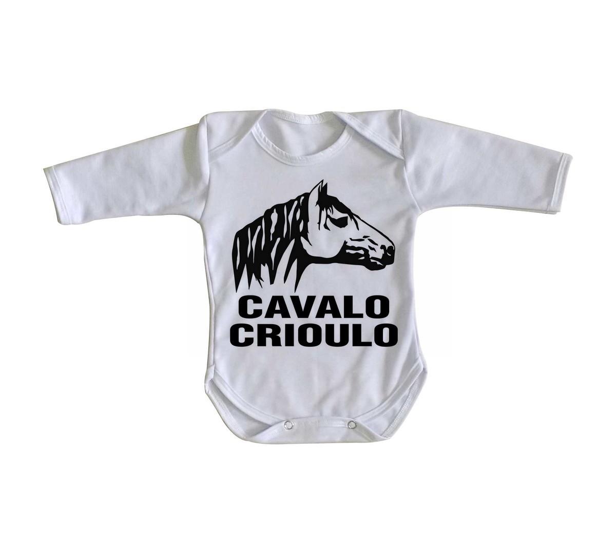 24b176e79e Body bebê roupa nenê cavalo crioulo rodeio gaucho no Elo7 ...