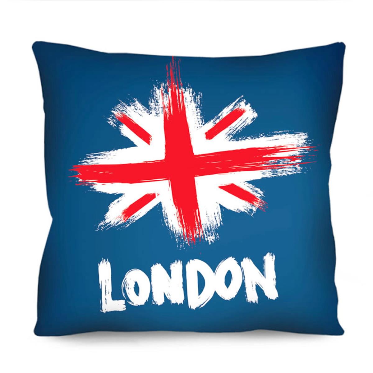 Almofada Decorativa Londres Inglaterra Bandeira 42x42 Rcd01 no Elo7 ... 48dccec7f5c36