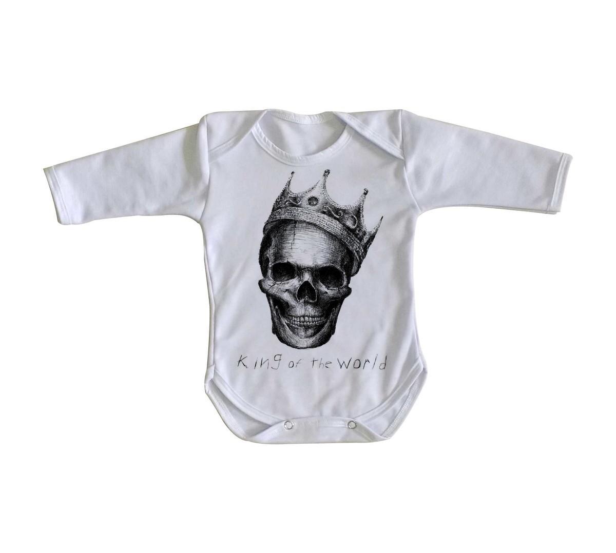 8e2c779ee Body bebê roupa nenê caveira coroa rei mexicana no Elo7
