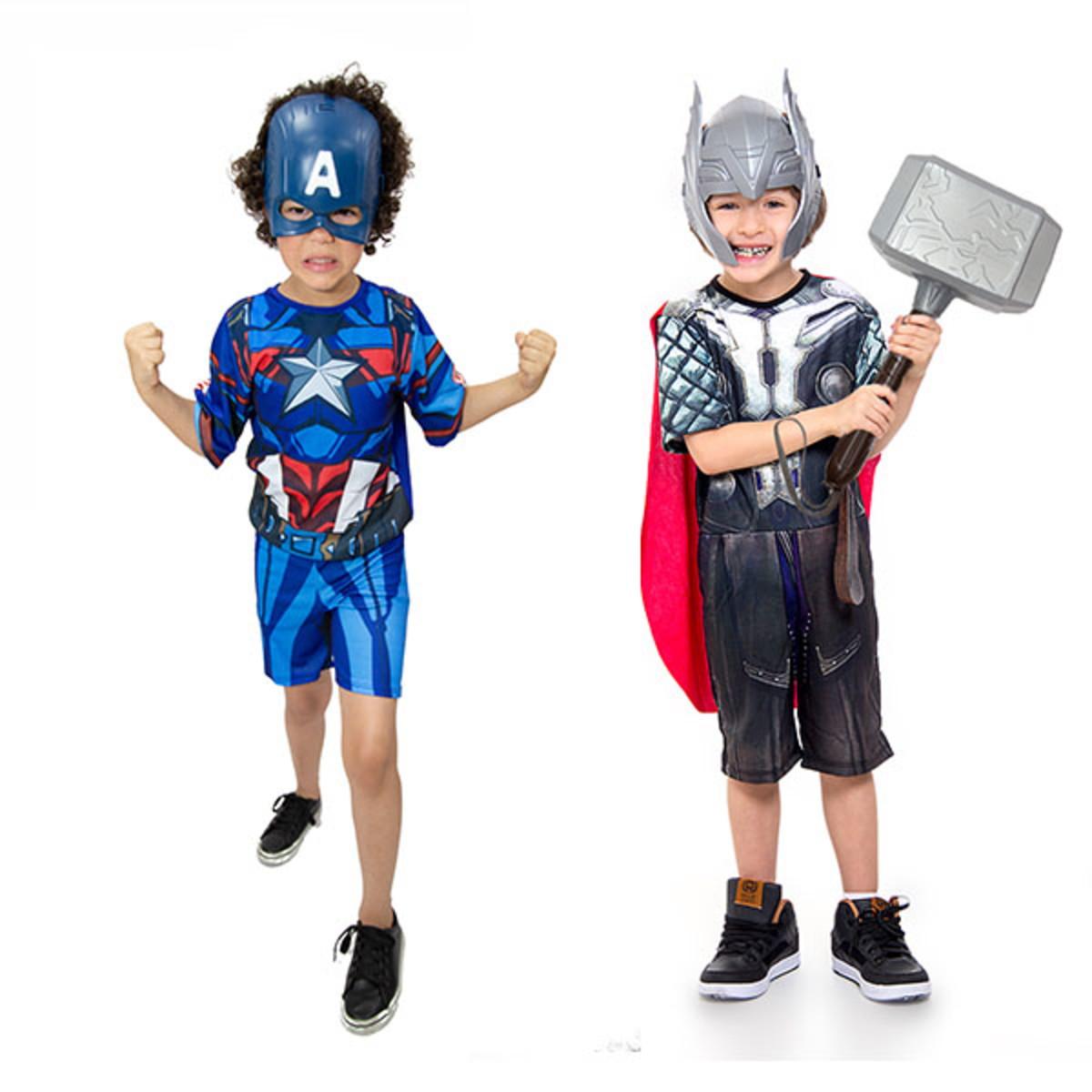 44b5291710 Fantasia Capitão America e Thor Infantil - Kit 2 Fantasias no Elo7 ...
