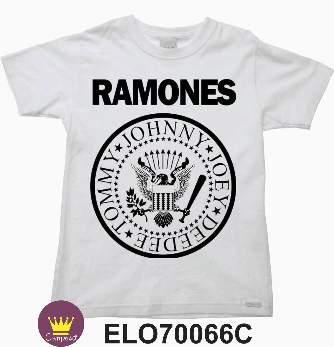 dd5669f5ba668 Camiseta Infantil Ramones Rock no Elo7