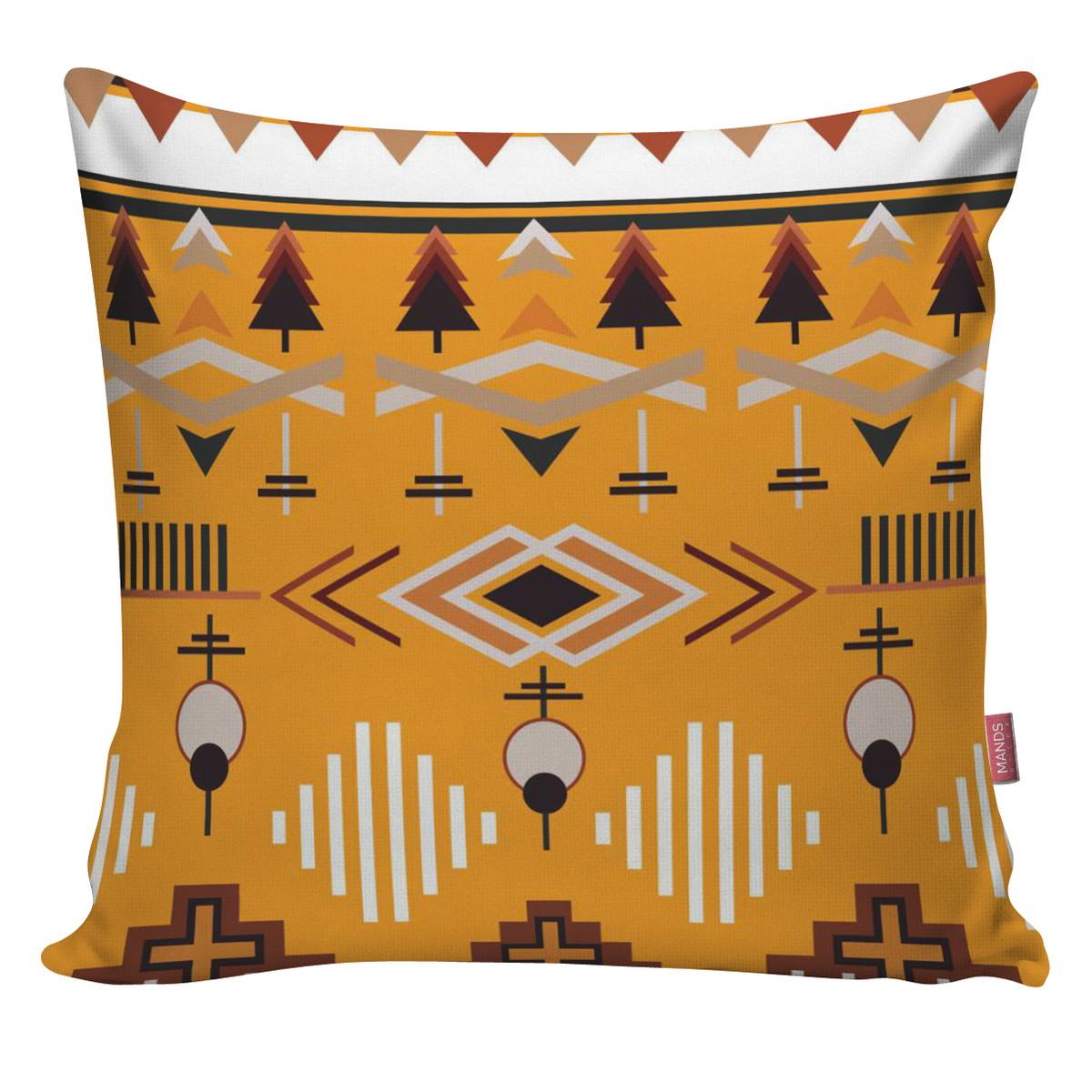 dda05c3eff24c4 Capa Almofada Decorativa Escandinavo Indigena Colorida ALE10