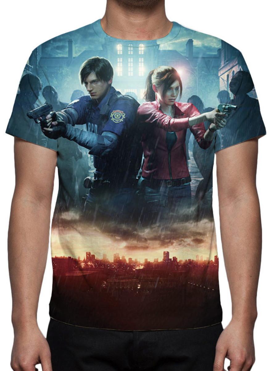 Camiseta - Game Resident Evil 2 Remake Mod 02