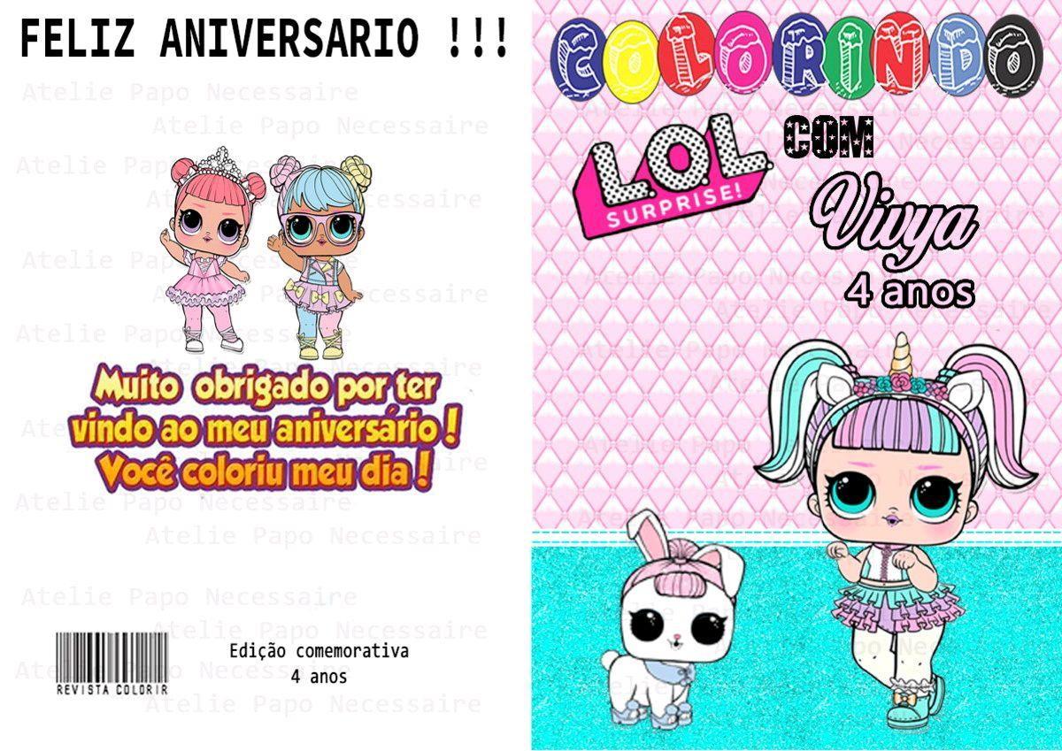 Revista De Colorir Lol Surprise No Elo7 Papo De Necessaire E2576b