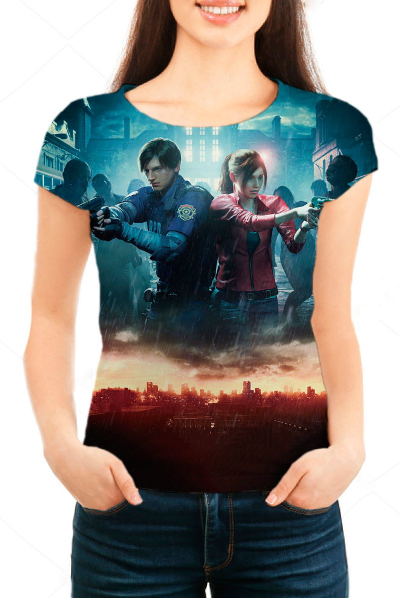 Camiseta Babylook Feminina - Resident Evil 2 Remake Mod 02