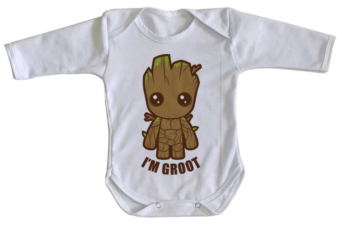 f49e93d0ef Body bebê roupa nenê Groot Bebê guardiões galaxia marvel no Elo7 ...