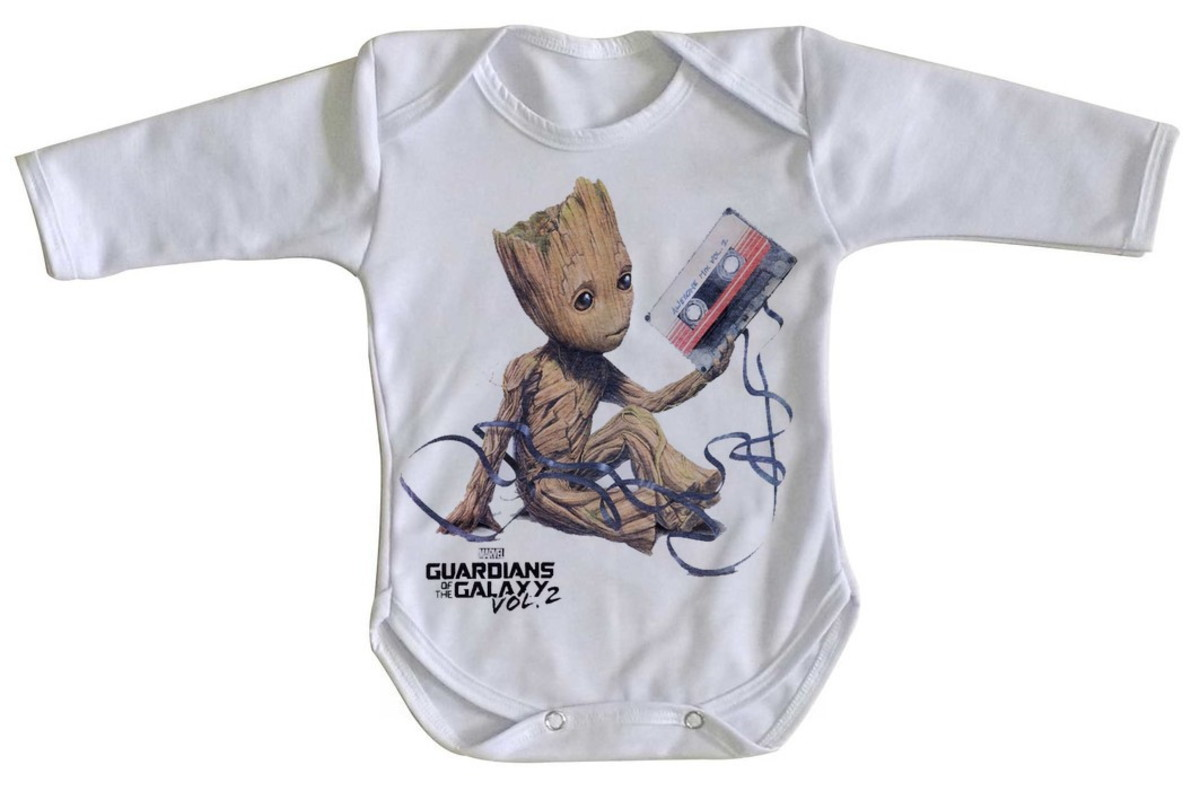 bacb70521c Body bebê roupa nenê Guardiões da Galáxia Groot fita no Elo7 ...
