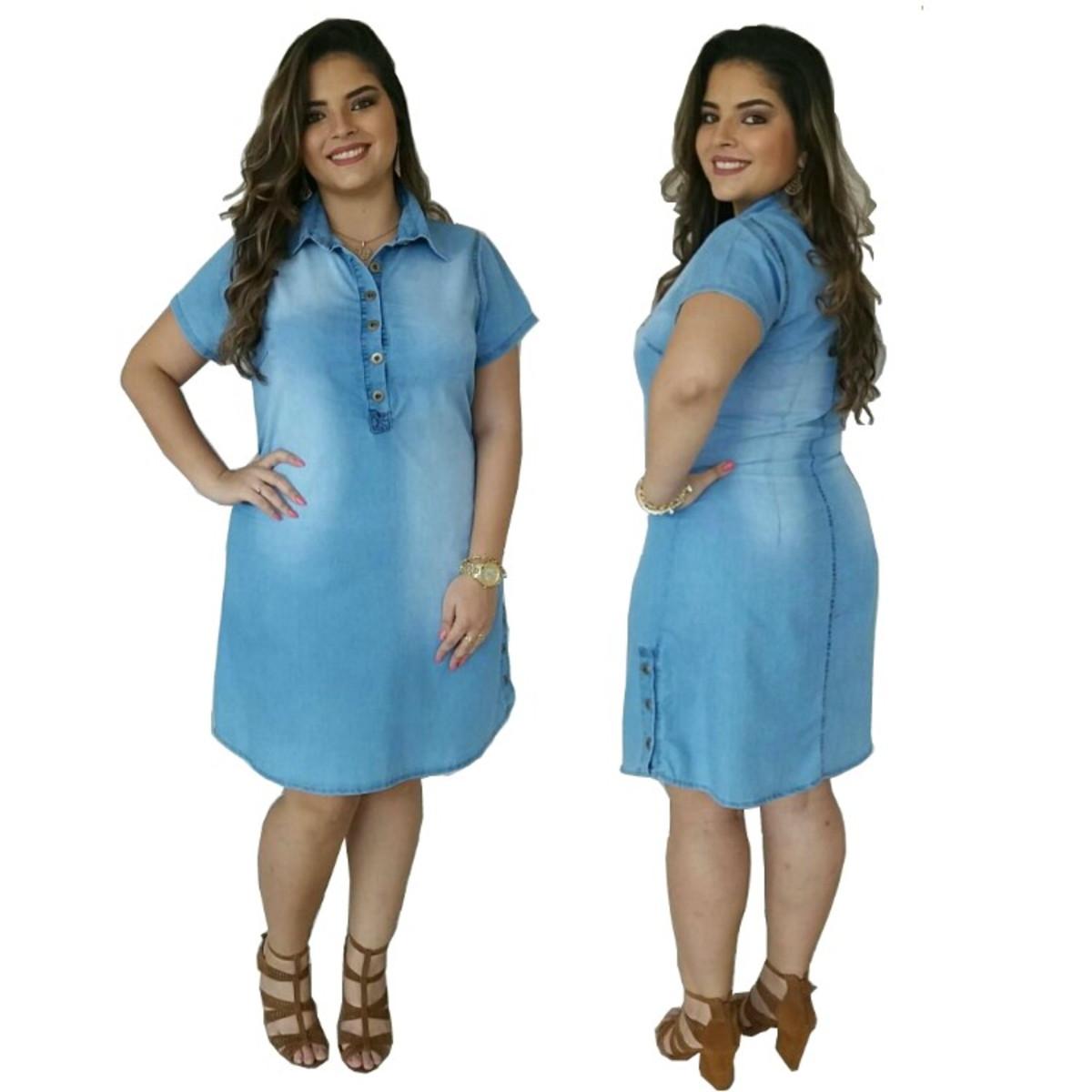 e3bfe009702 Roupas Femininas Vestido Jeans Plus Size Vestido Plus Size no Elo7 ...