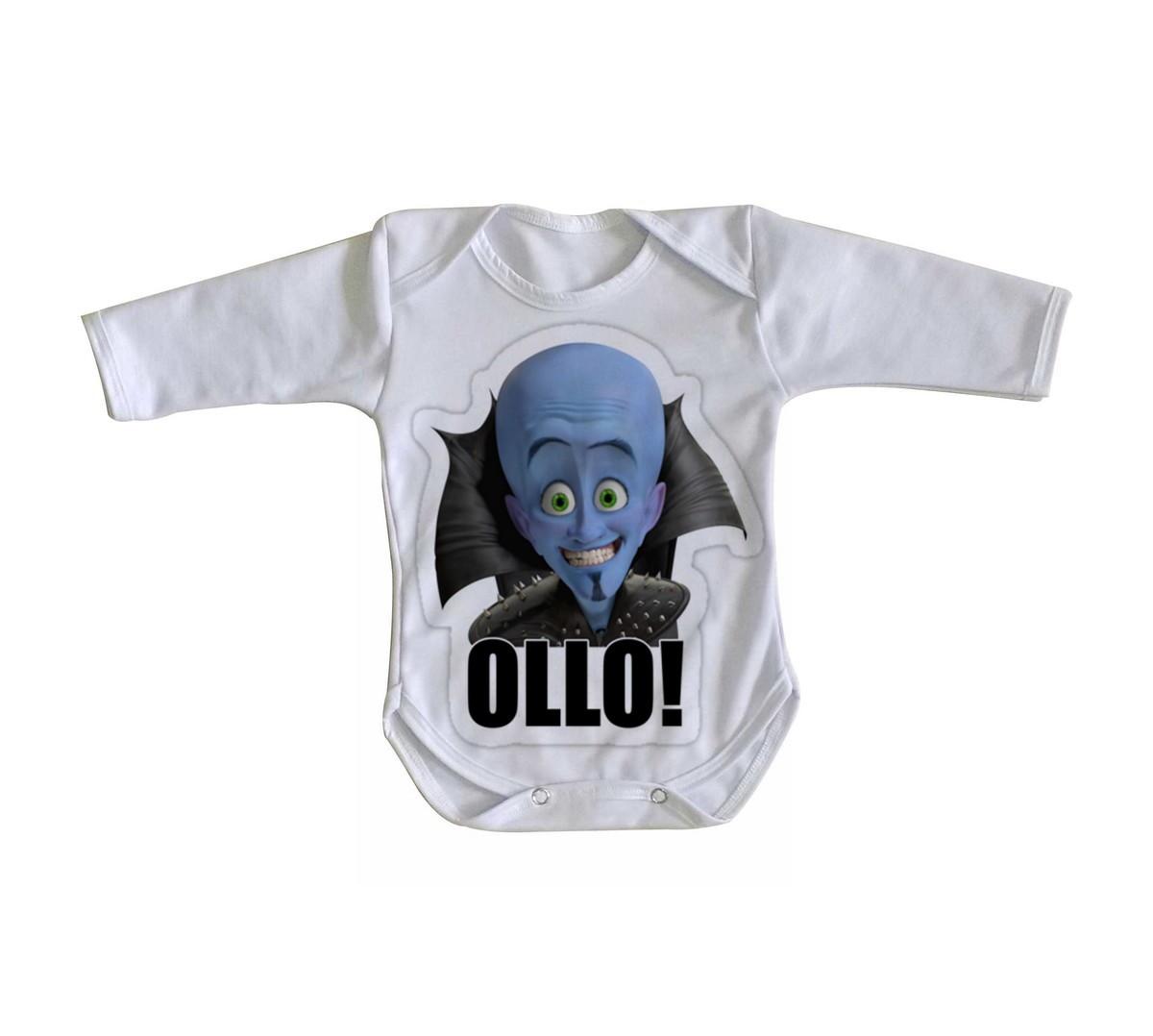 d4c628ca41 Body bebê roupa nenê megamente super herói azul no Elo7