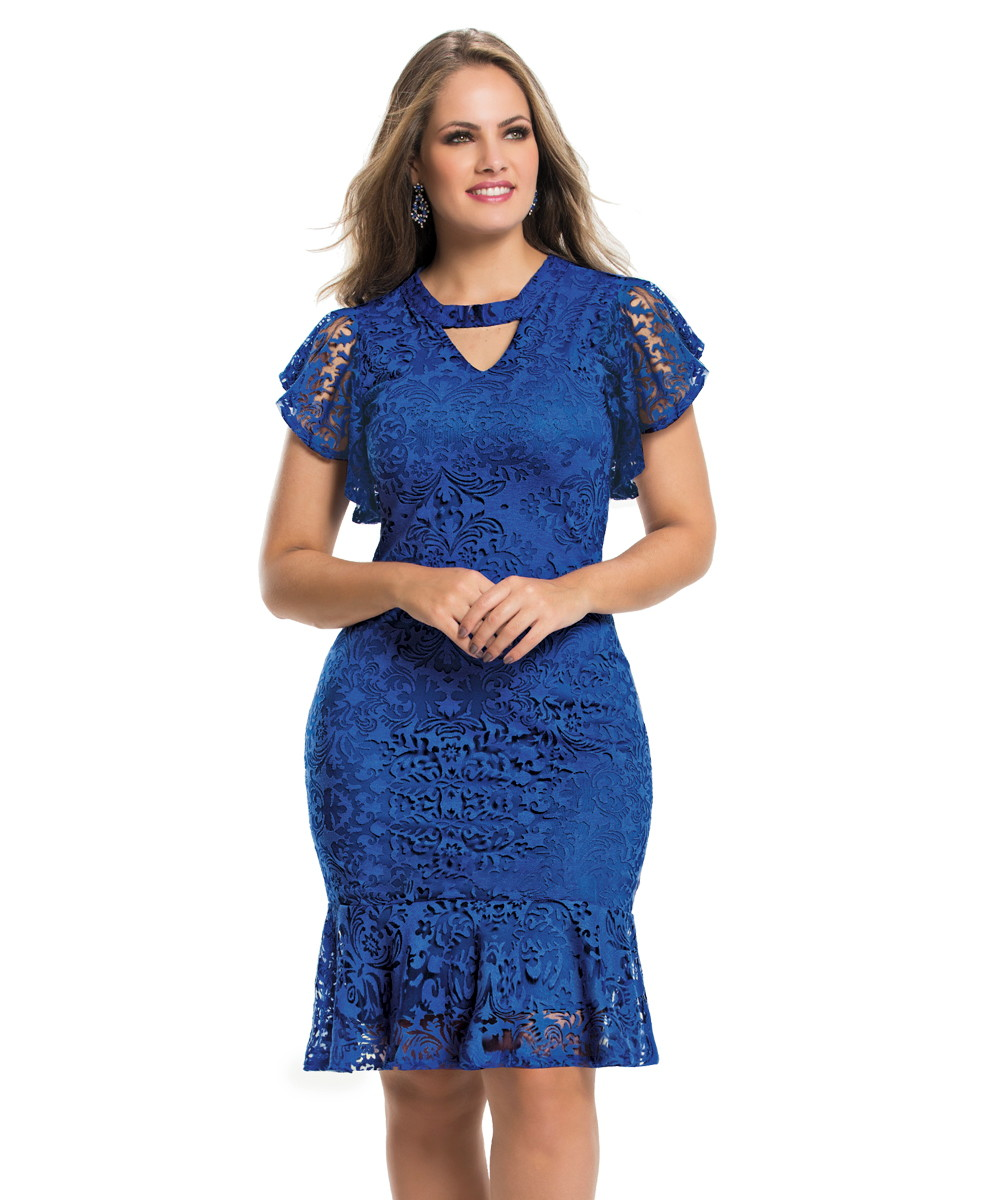 9ddfc1892b Vestido azul royal midi moda evangelica no elo coisas de diva jpg 1000x1200 Vestidos  social evangelicos