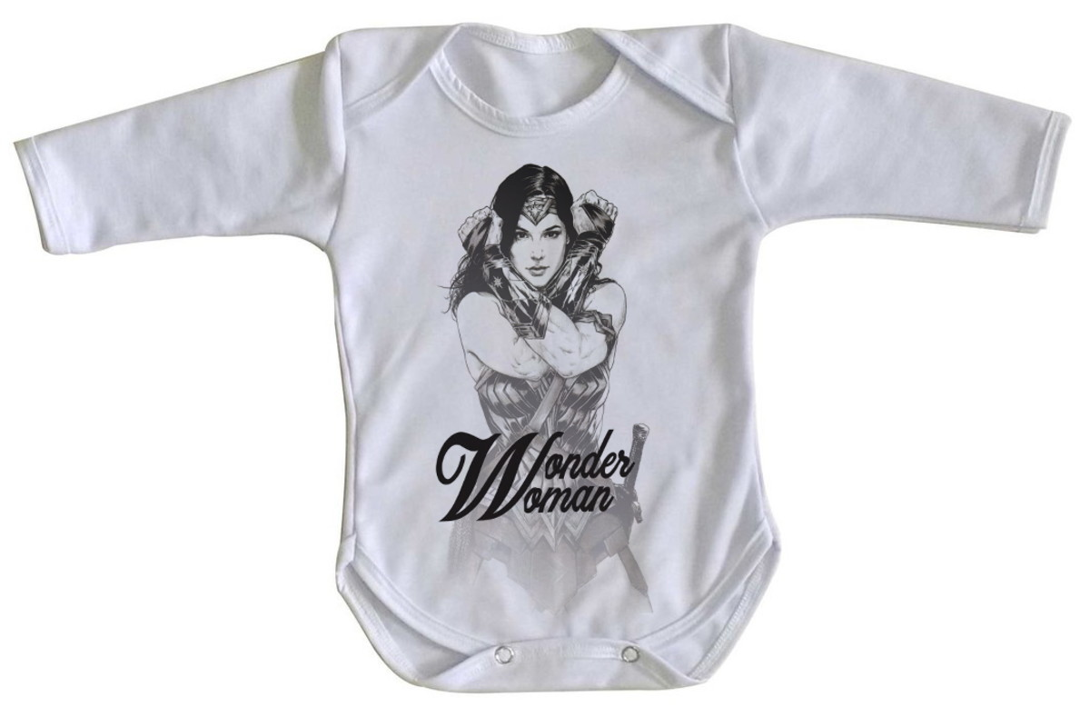 f6096c72e Body bebê roupa nenê mulher maravilha liga justiça heroi no Elo7 ...