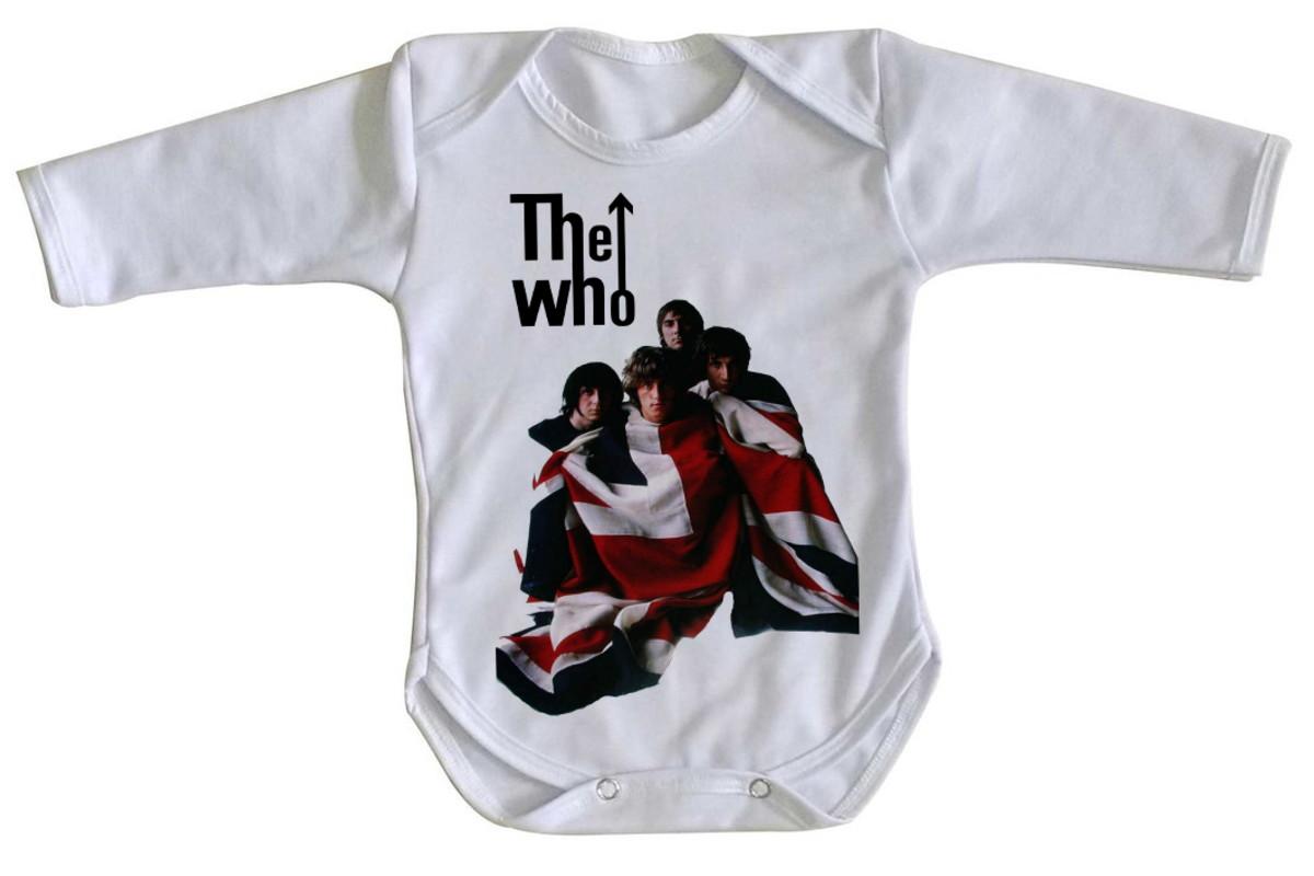 Body bebê roupa nenê the who banda rock inglaterra bandeira no Elo7 ... bdd43869e27de