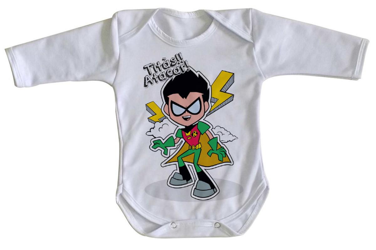 e3f61722dc Body bebê roupa nenê Robin jovens Titãs em ação titan go no Elo7 ...