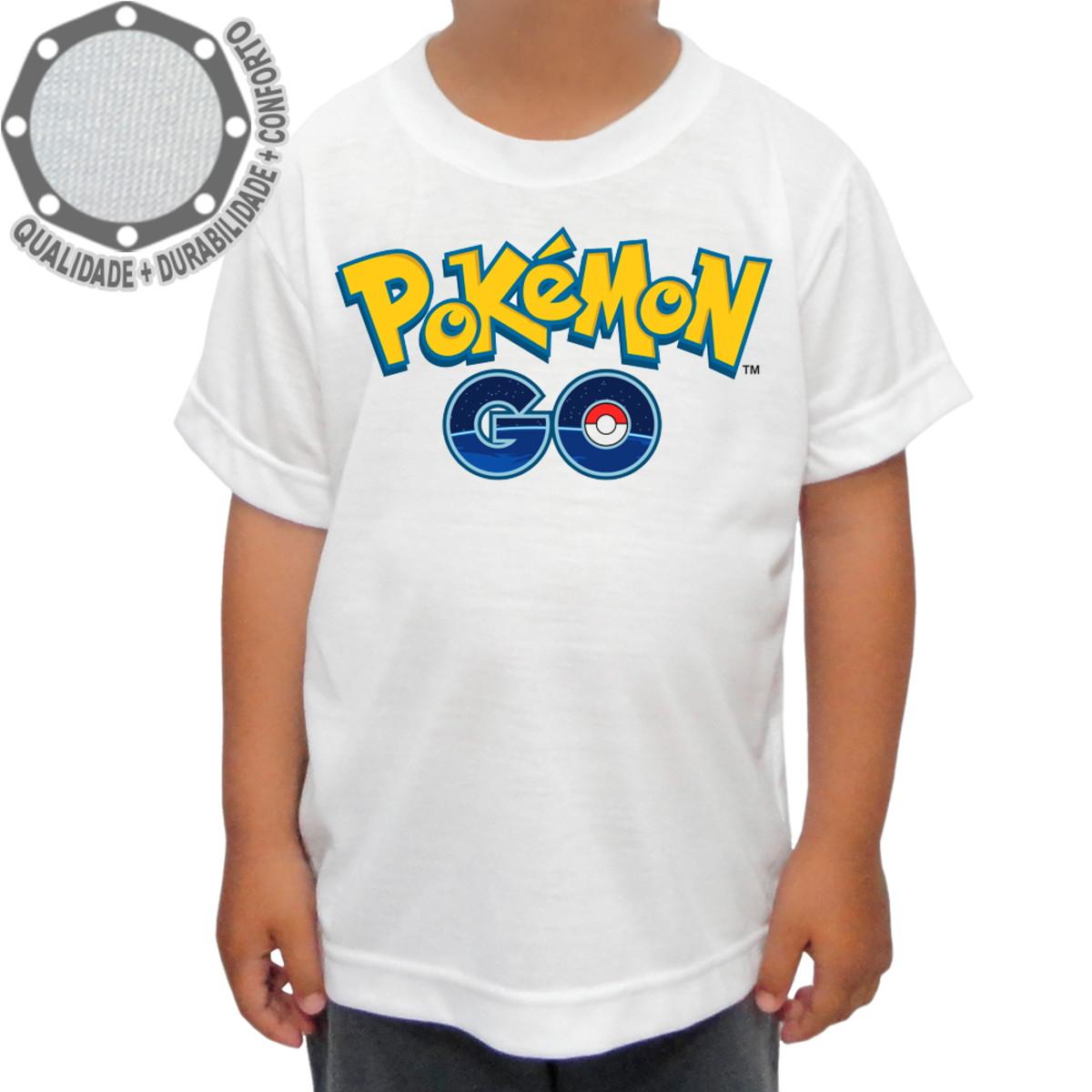 0f0e95eddc Camiseta Pokémon Go Logo no Elo7