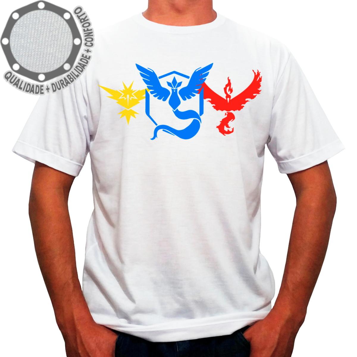 01ed31d706 Camiseta Pokémon Go Teams no Elo7