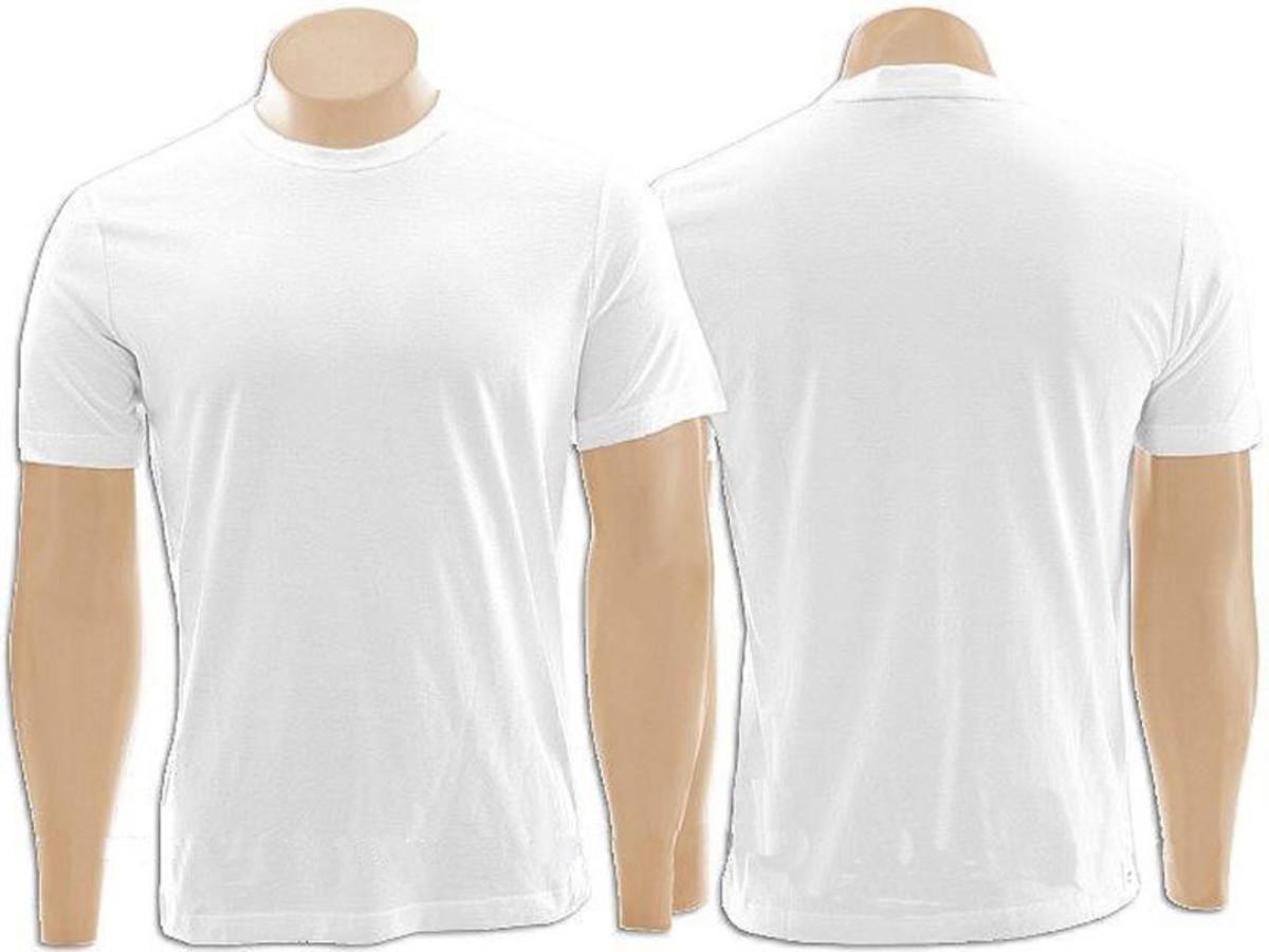 Pacote com 10 Camisetas Malha Fria Branca no Elo7  68cb593df6098