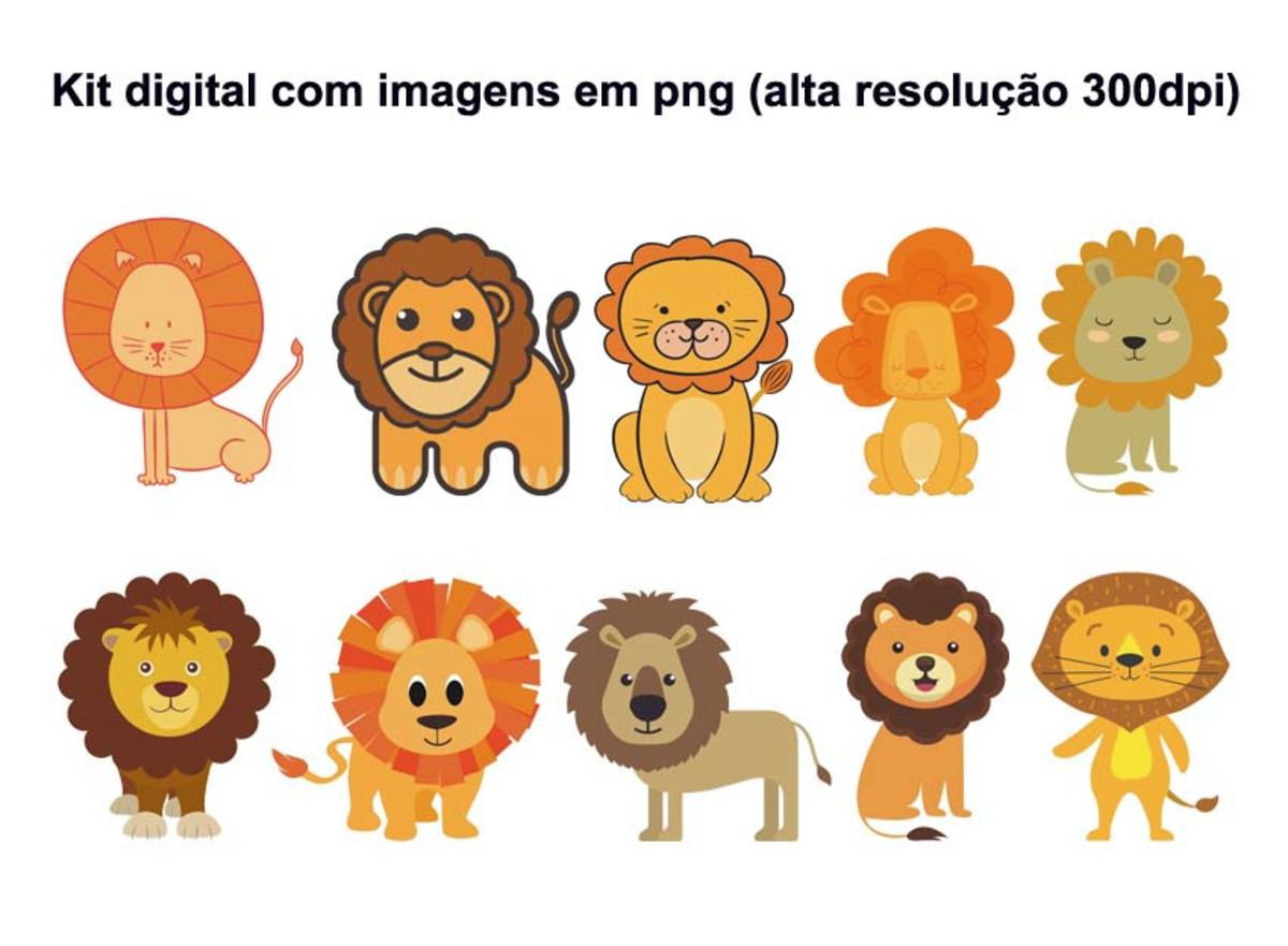 Kit Digital Leao 10 Imagens Em Png No Elo7 Happy Ending E2c9e8
