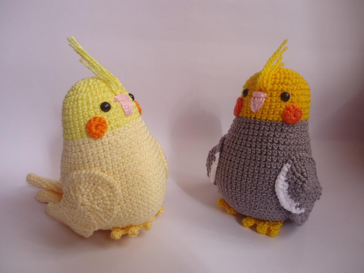 Chaveiros casal de calopsitas de crochê amigurumi no Elo7 | Ateliê ... | 900x1200
