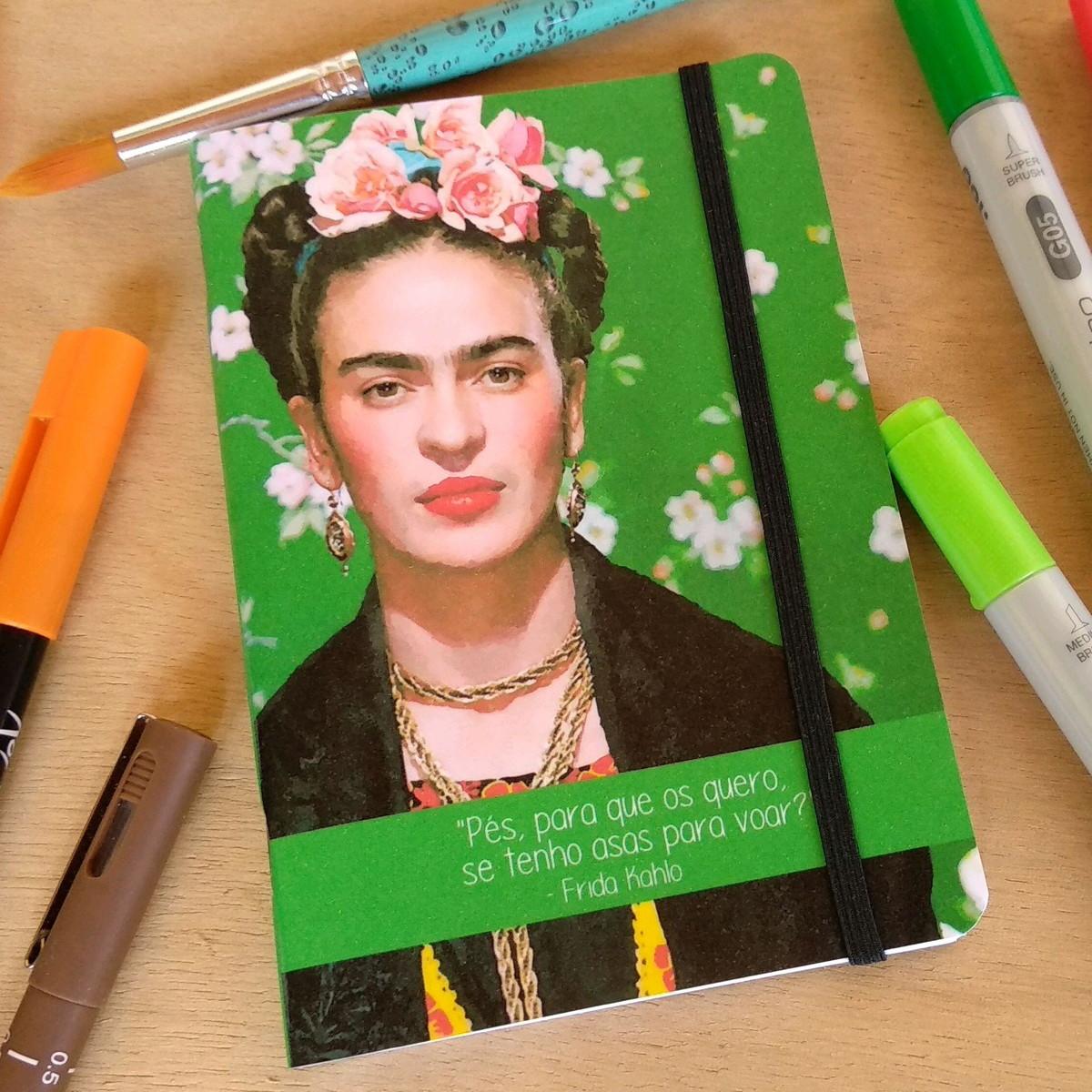c84db746c2 Planner Mensal 2019 A6 De Bolso (Mini) Frida Kahlo no Elo7