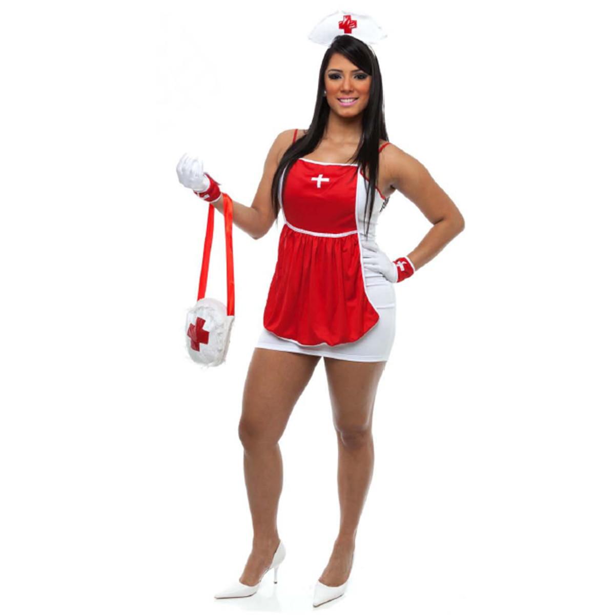 09b29023c Fantasia Enfermeira Sexy Feminina Carnaval Médica no Elo7 ...