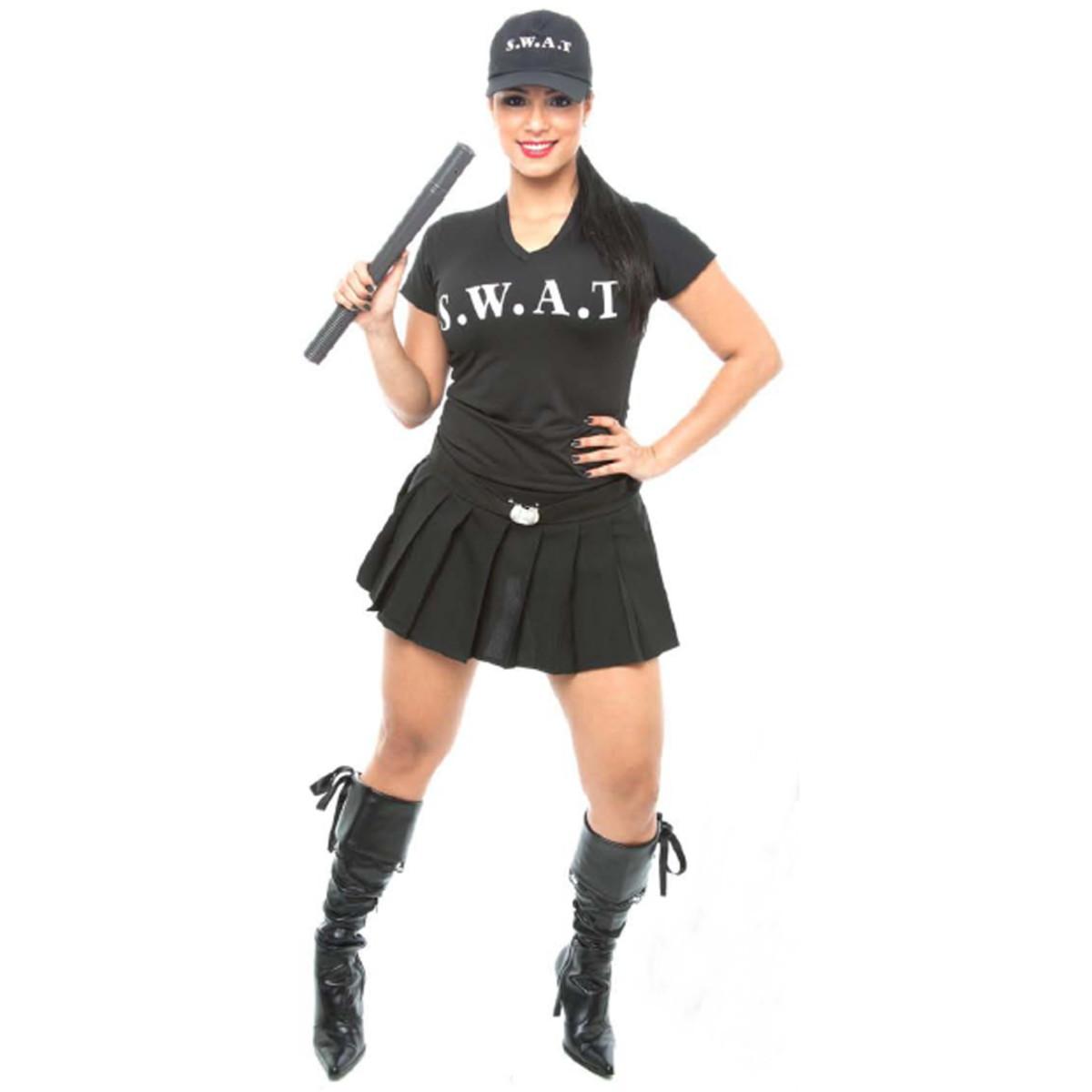 554db5a78 Fantasia Policial Swat Sexy Feminina Carnaval no Elo7