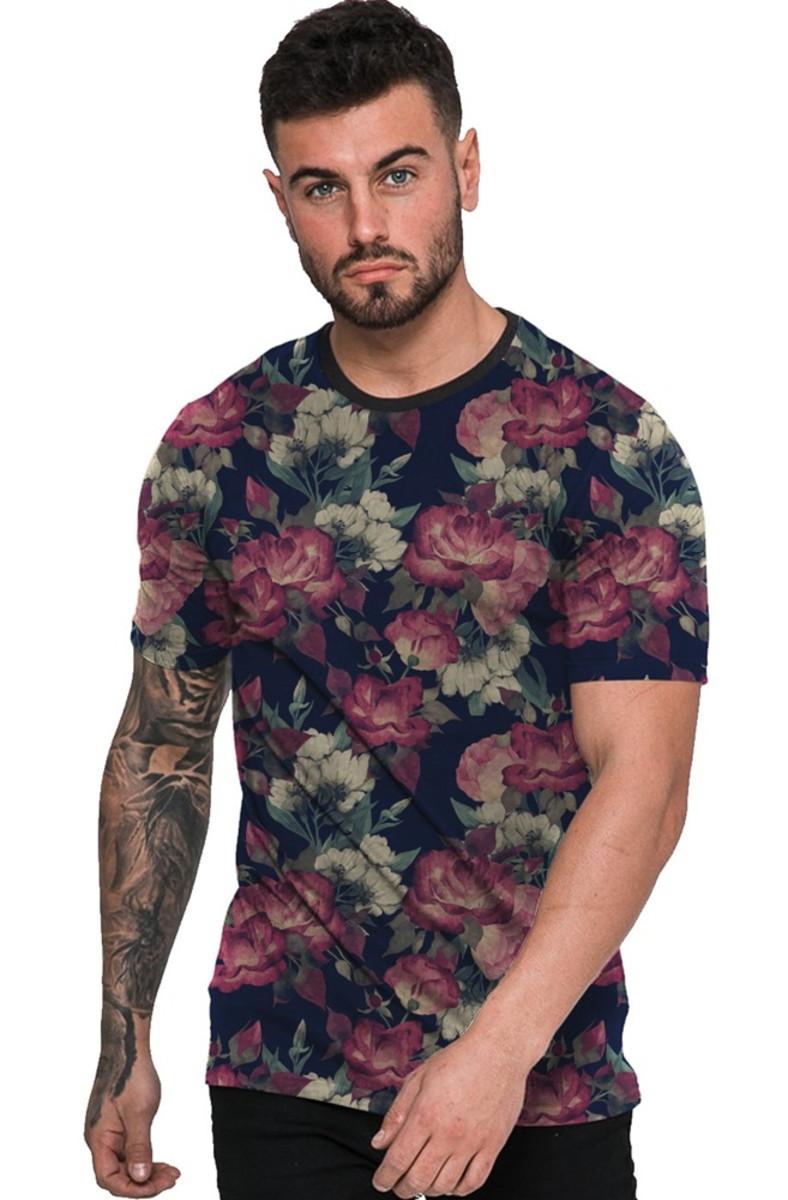 05c19a21d1 Camiseta Estampada Florida Masculina Floral no Elo7