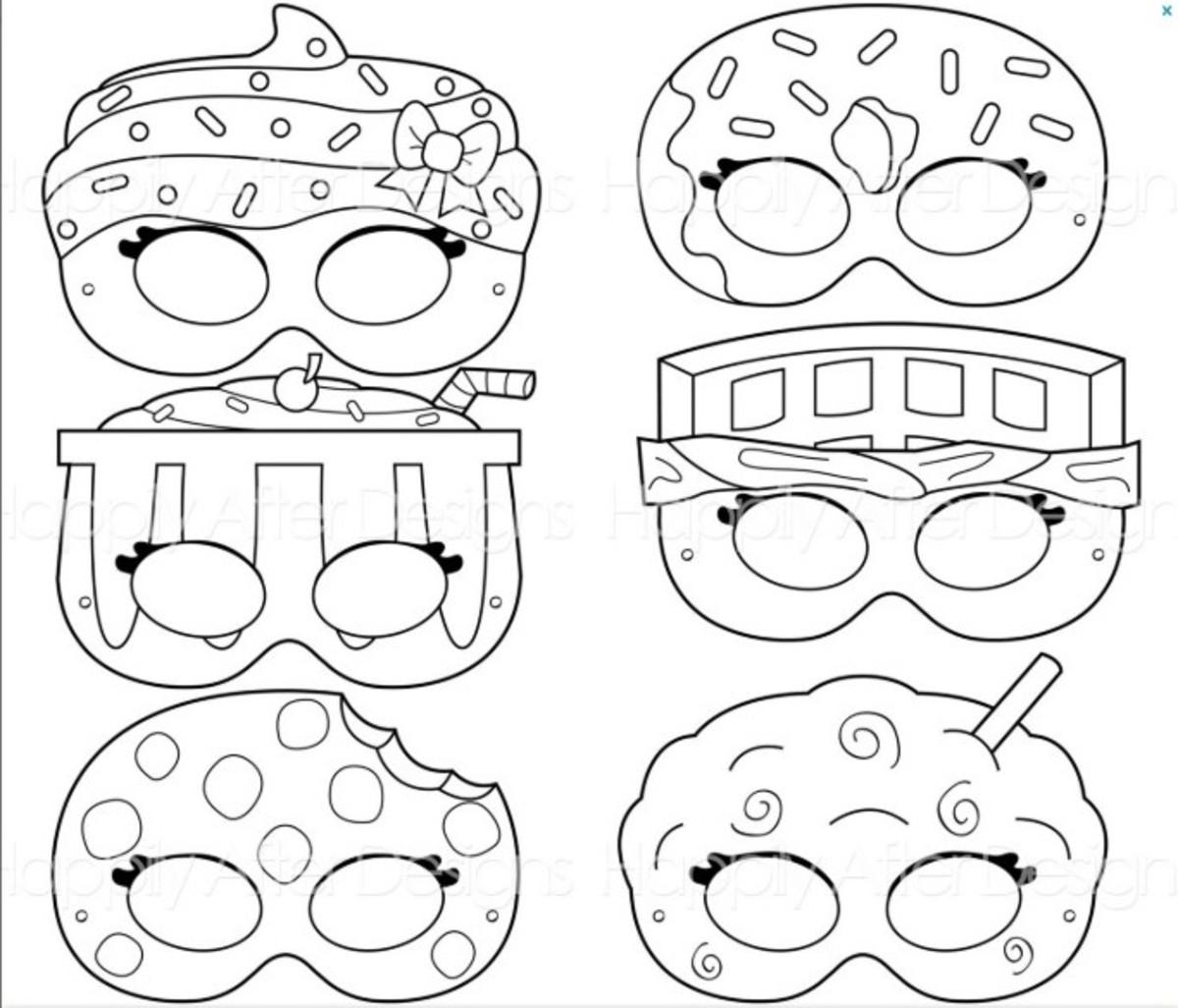 Mascaras De Colorir Shopkins No Elo7 Hb Lembrancinhas