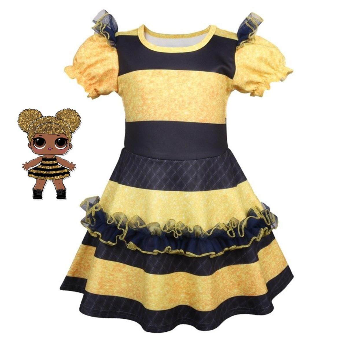 Vestido Fantasia Lol Queen Bee Abelha Carnaval Ou Festa No Elo7 Borboletinhas Kids E30dee