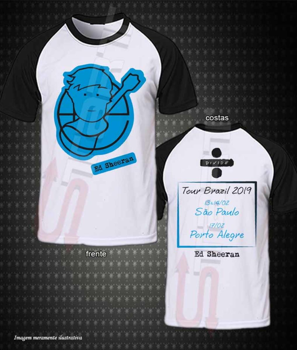 Camiseta Raglan Ed Sheeran Tour Brazil 2019 no Elo7  f50cda5fbc0