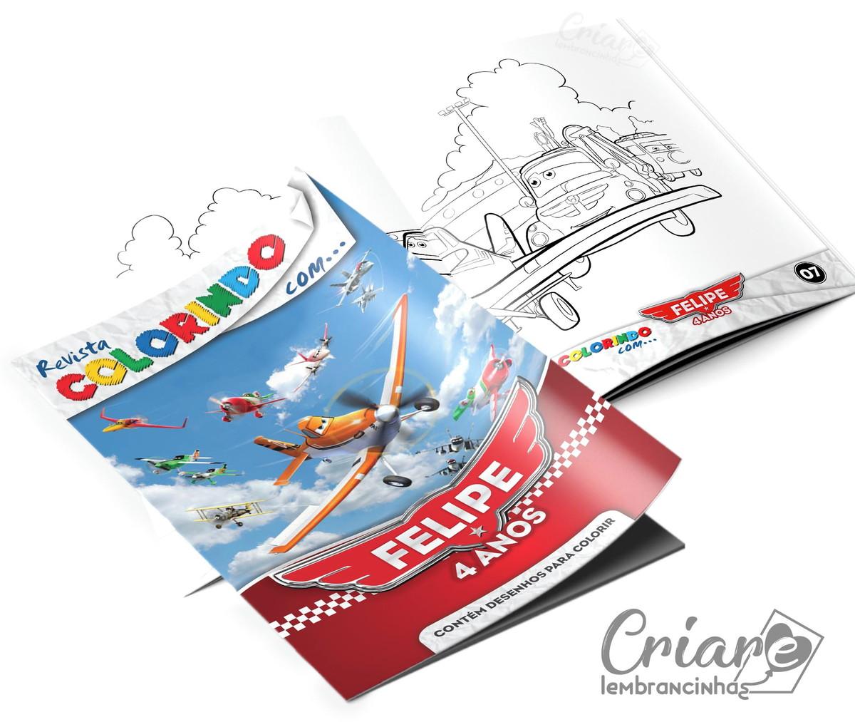 Revista Para Colorir Avioes Da Disney No Elo7 Criare