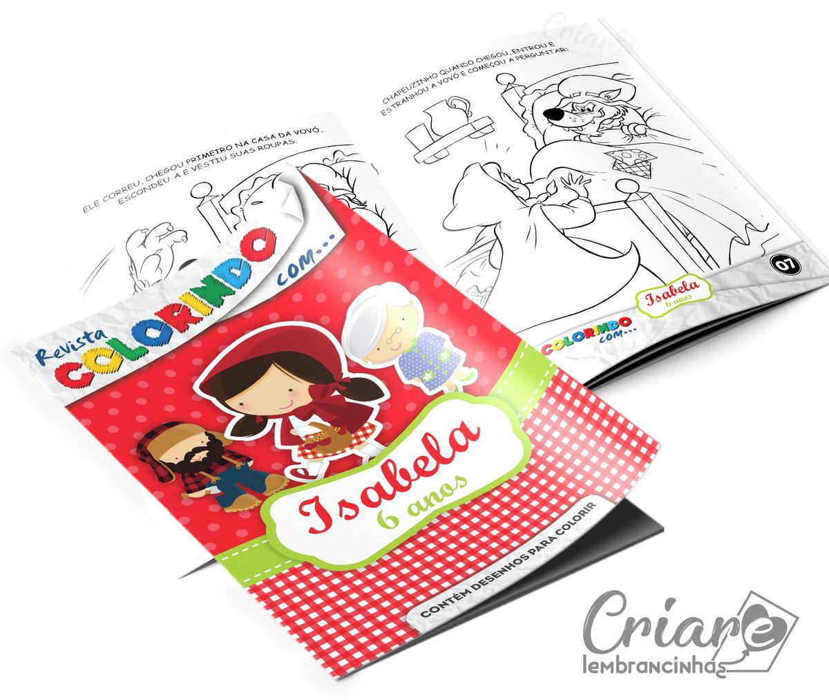 Revista Para Colorir Chapeuzinho Vermelho No Elo7 Criare
